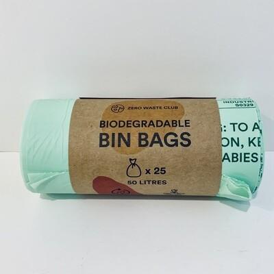 Biodegradable Bin Bags, 13 Gallon, 25-Pack