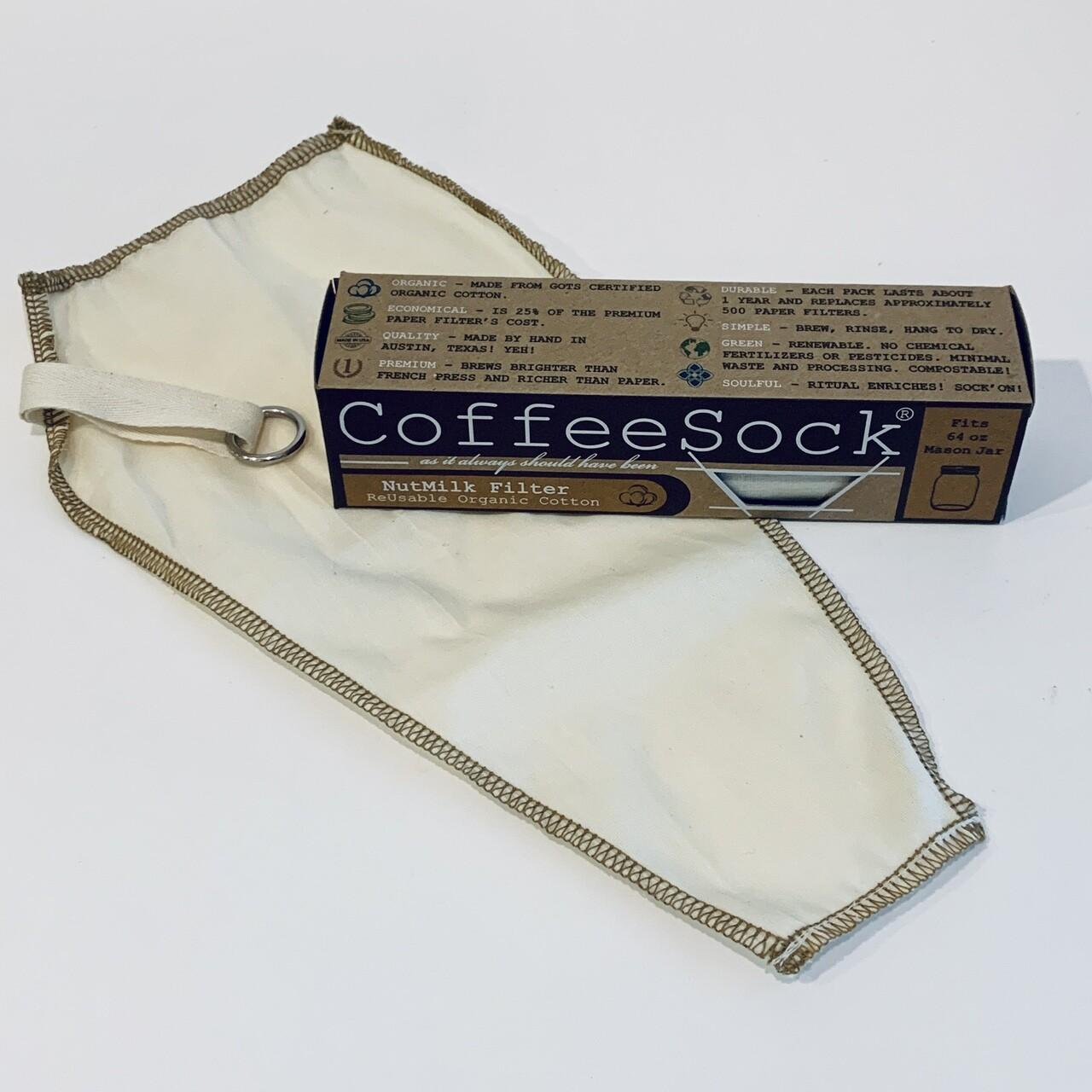 Nut Milk Filter, Reusable - CoffeeSock