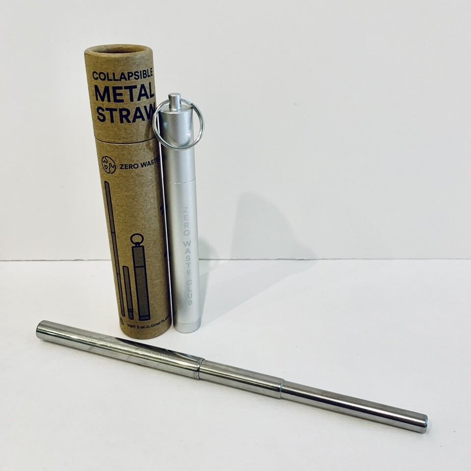 Collapsible Straw With Keychain Case