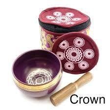 EE Chakra Silk Case Singing Bowl Crown