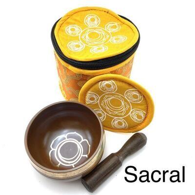 EE Chakra Silk Case Singing Bowl Sacral (Orange)