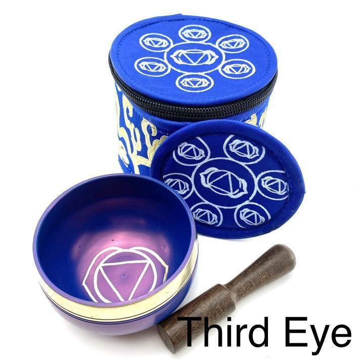 EE Chakra Silk Case Singing Bowl Third Eye