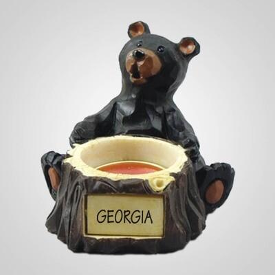 Lipco Tea Light Holder Bear Sitting