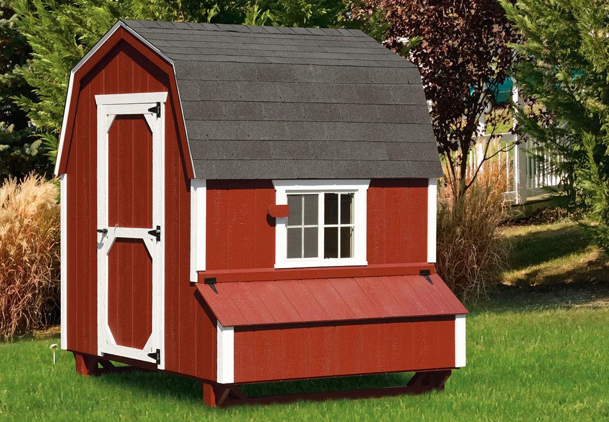Dutch Style 6x6 Walk In Chicken Coop