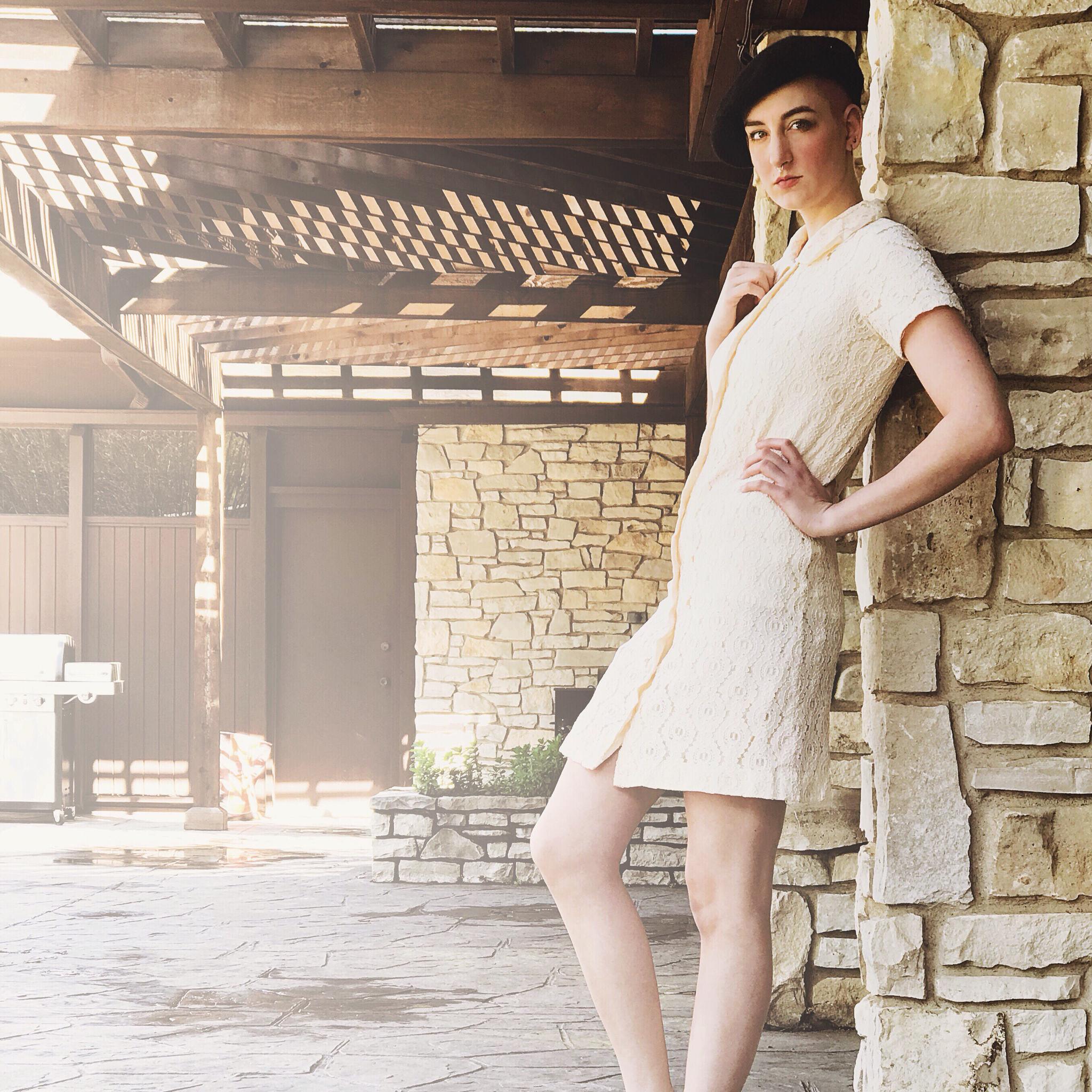 1960s Vanilla Lace Mini Dress 00026