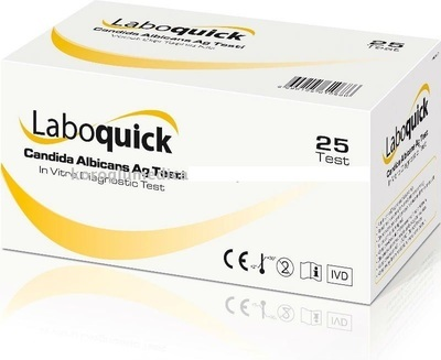 Laboquick Candida Albicans Ag Test Kit CE Marked, 25 Tests