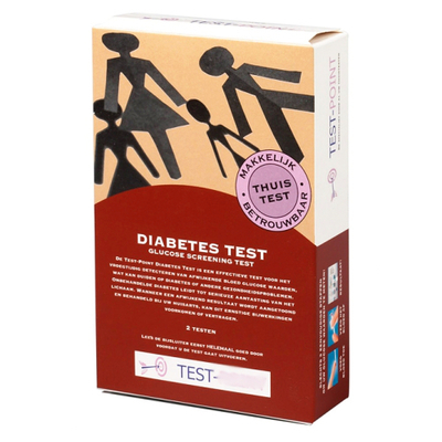 Diabetes Test Kit, including 2 tests