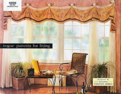 Vogue 1856 Home Decor Window Treatments Designer Susanna Stratton Norris
