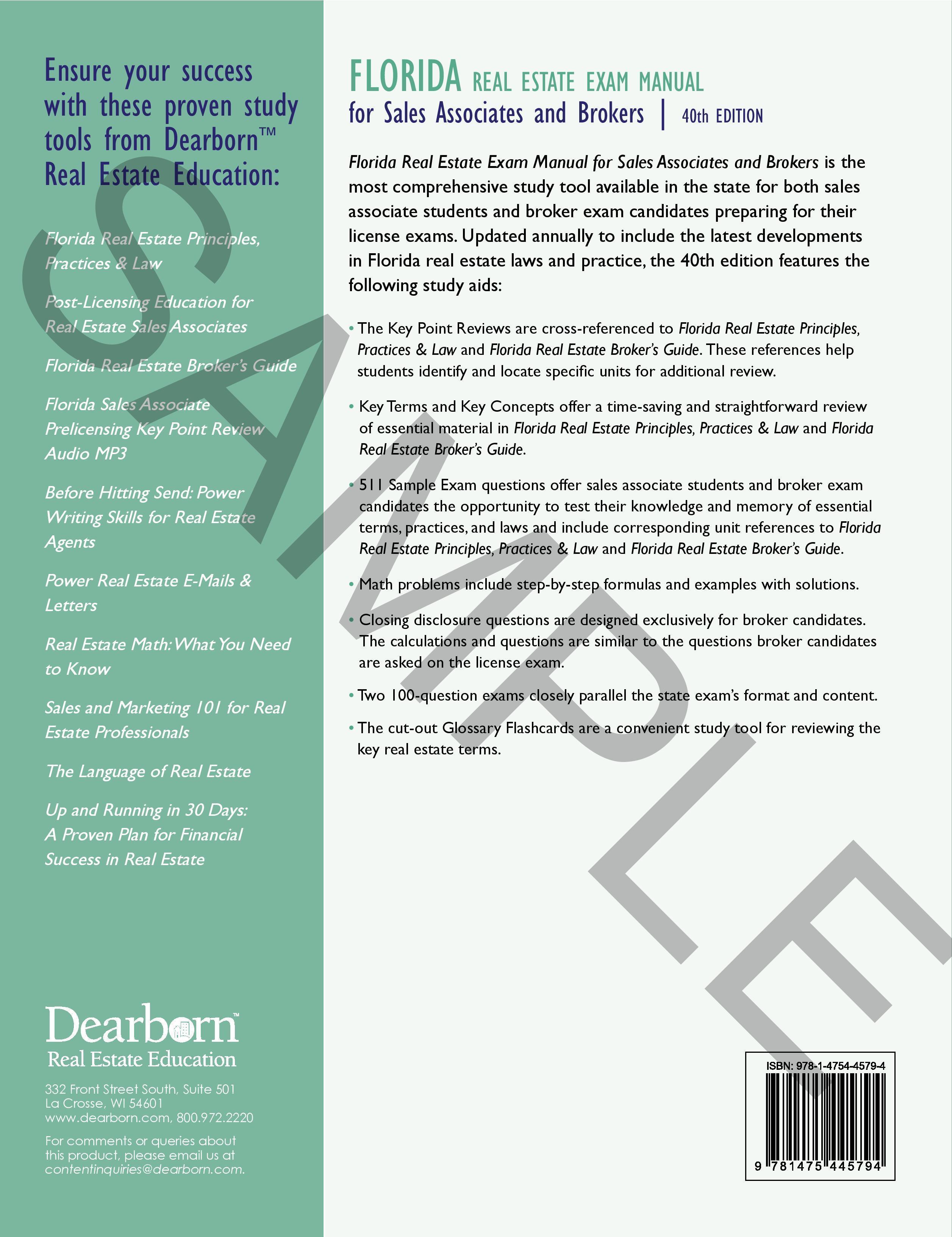 florida real estate exam manual 41st edition rh tampaschoolofrealestate com