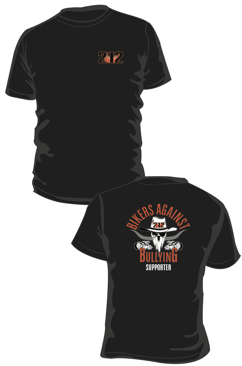 Bikers Against Bullying/212 T-Shirt 005