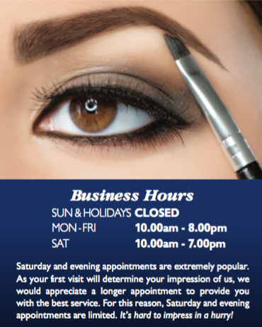 Fairlady Beauty Salon - Opening Hours