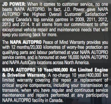 Napa Autopro Cap & Marine - About