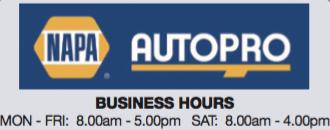 Napa Autopro Cap & Marine - Opening Hours