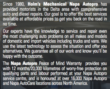 About Holm's Mechanical Napa