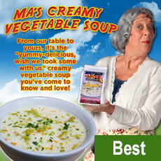Ma's Creamy Vegetable Soup (Buy 8 Get 2 Free Pack) $72.88 plus $15.00 S+H Soup-8plus2pack