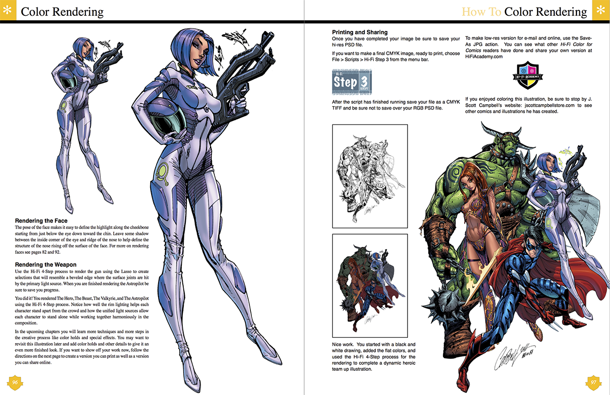 Pages color highlight - Rendering A Variety Of Characters