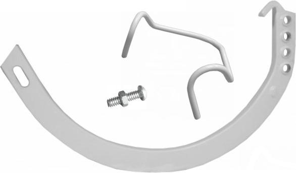 Aluminum Half Round Gem Circle