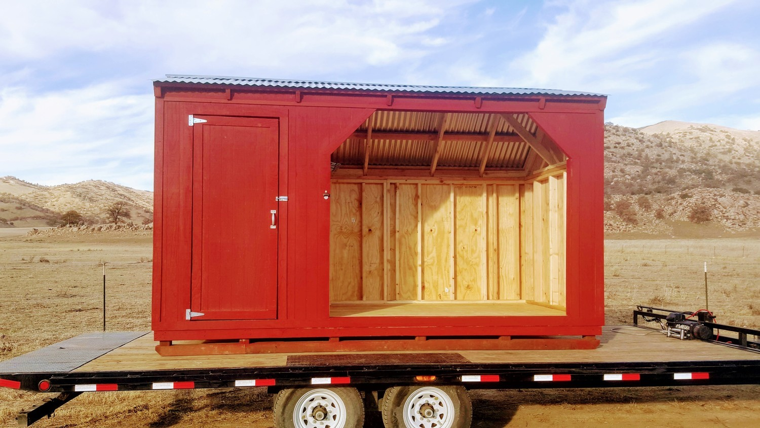 Feed or Firewood Shelter with Storage Room