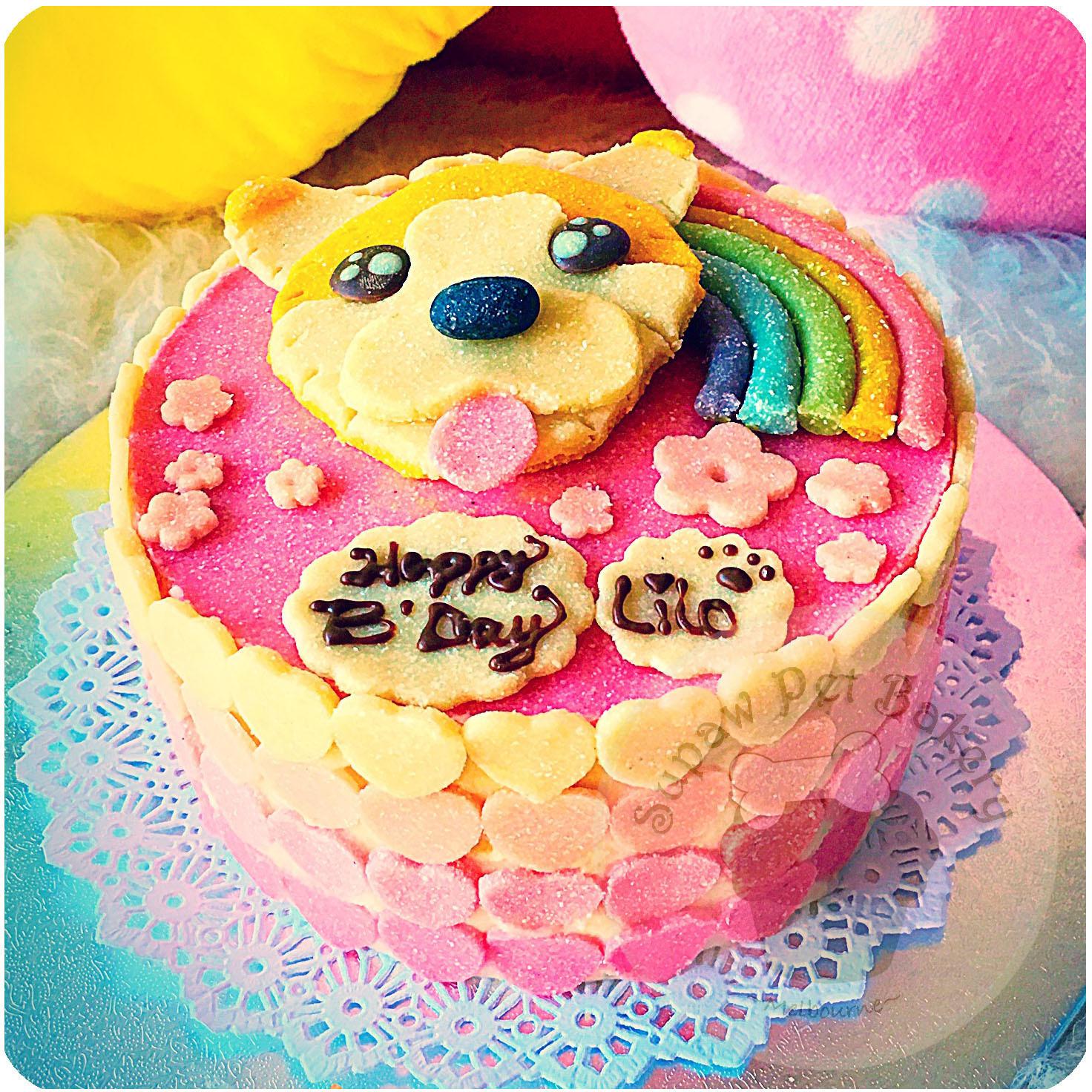 Dog Quot Fondant Quot Cake Beef Chicken Pup Birthday Cake