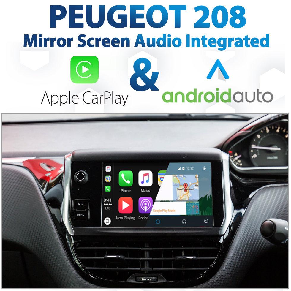 peugeot 208 mirror screen audio integrated apple carplay. Black Bedroom Furniture Sets. Home Design Ideas