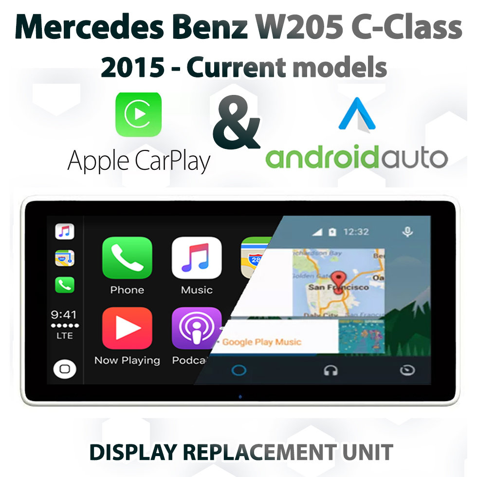 mercedes benz w205 c class apple carplay and. Black Bedroom Furniture Sets. Home Design Ideas