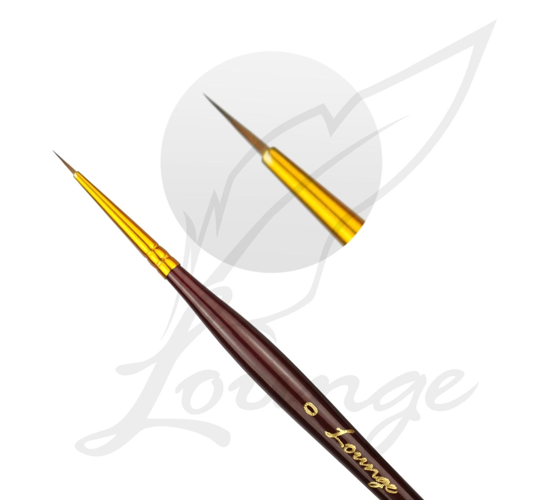 Akrylfarben Pinsel mit goldener Spitze Gr 0