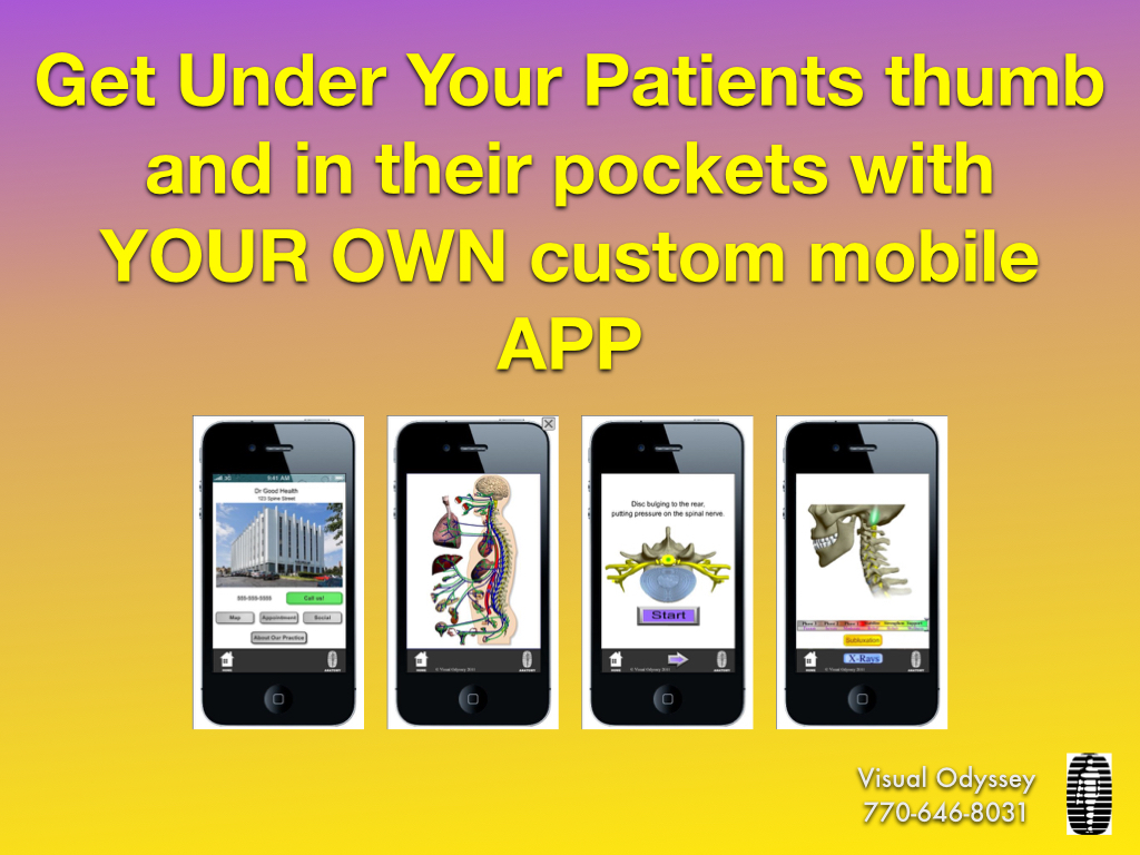 Get your own custom Neuropatholator APP for patients to download FREE 50