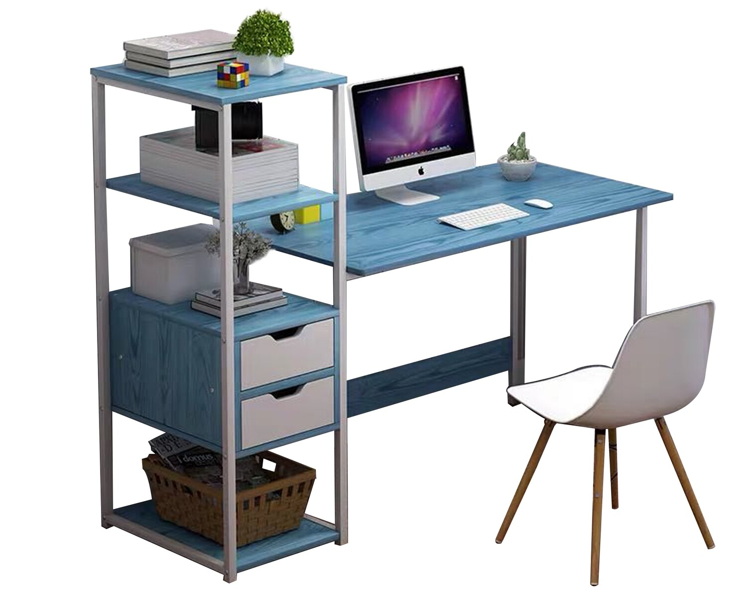 Ofix Desk 10 Light Top, Blue Top Chair Not Included