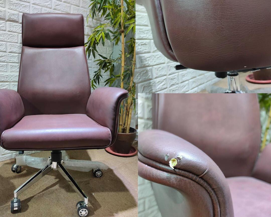 Sale Ofix Premium 11 High Back PU Chair Brown Light ...