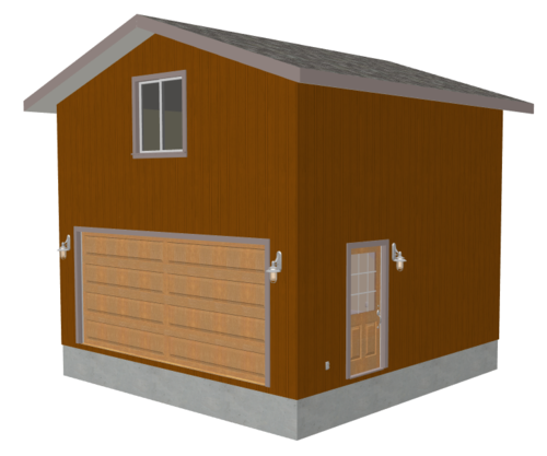 g229 20 x 20 garage plan with loft