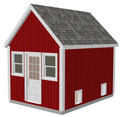 g488 10 x 14 x 8 garden shed chicken coop - Garden Sheds 8 X 14