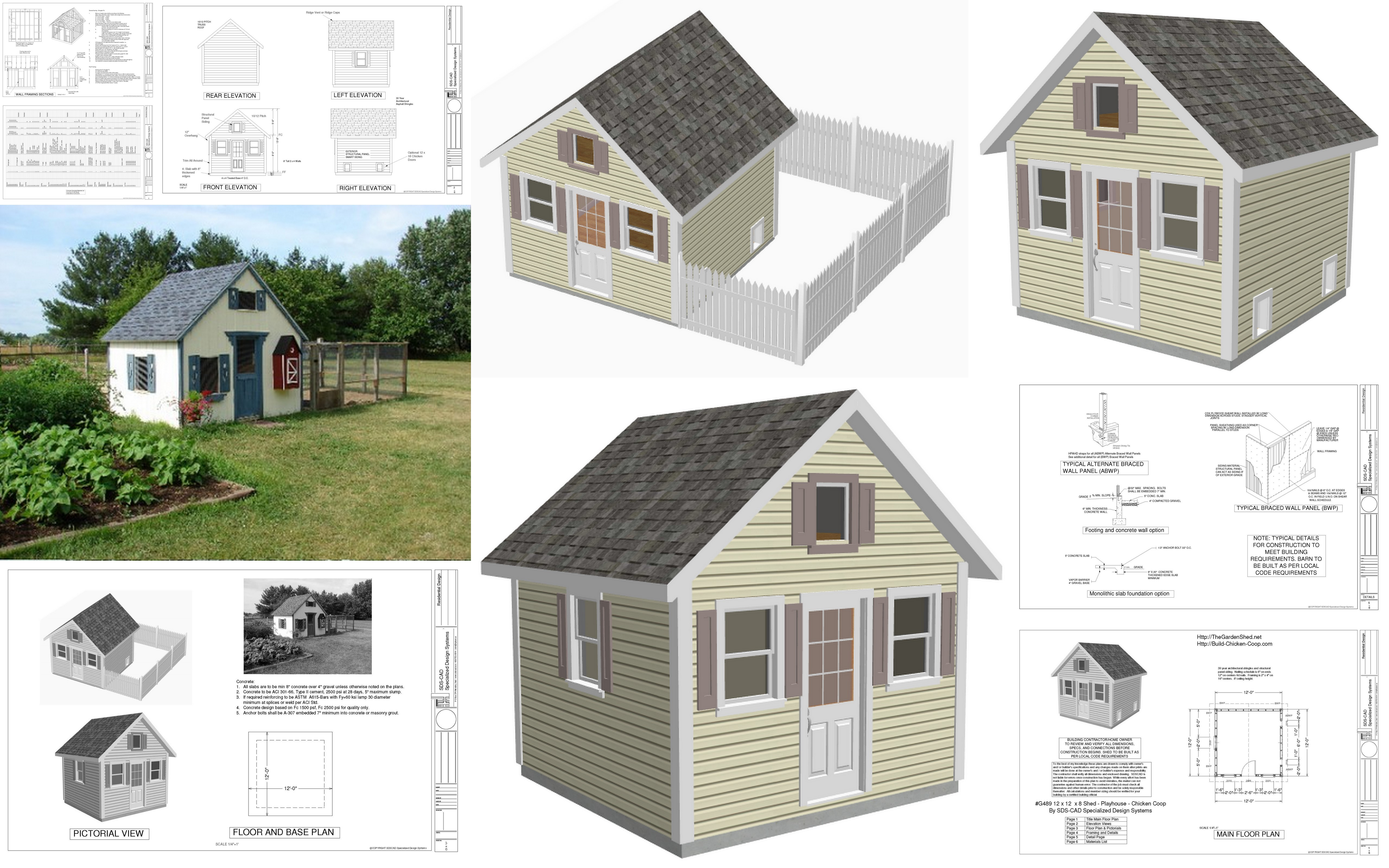 playhouse plans 8 x 12