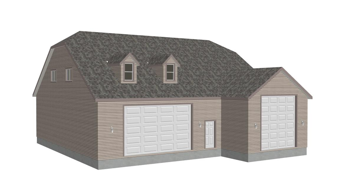 G383A 20 X 60 14 And 50 43 12 RV Garage Plans With Bonus Room Apartment