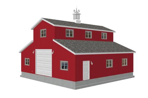 Monitor barn plans sds plans for Monitor style barn plans