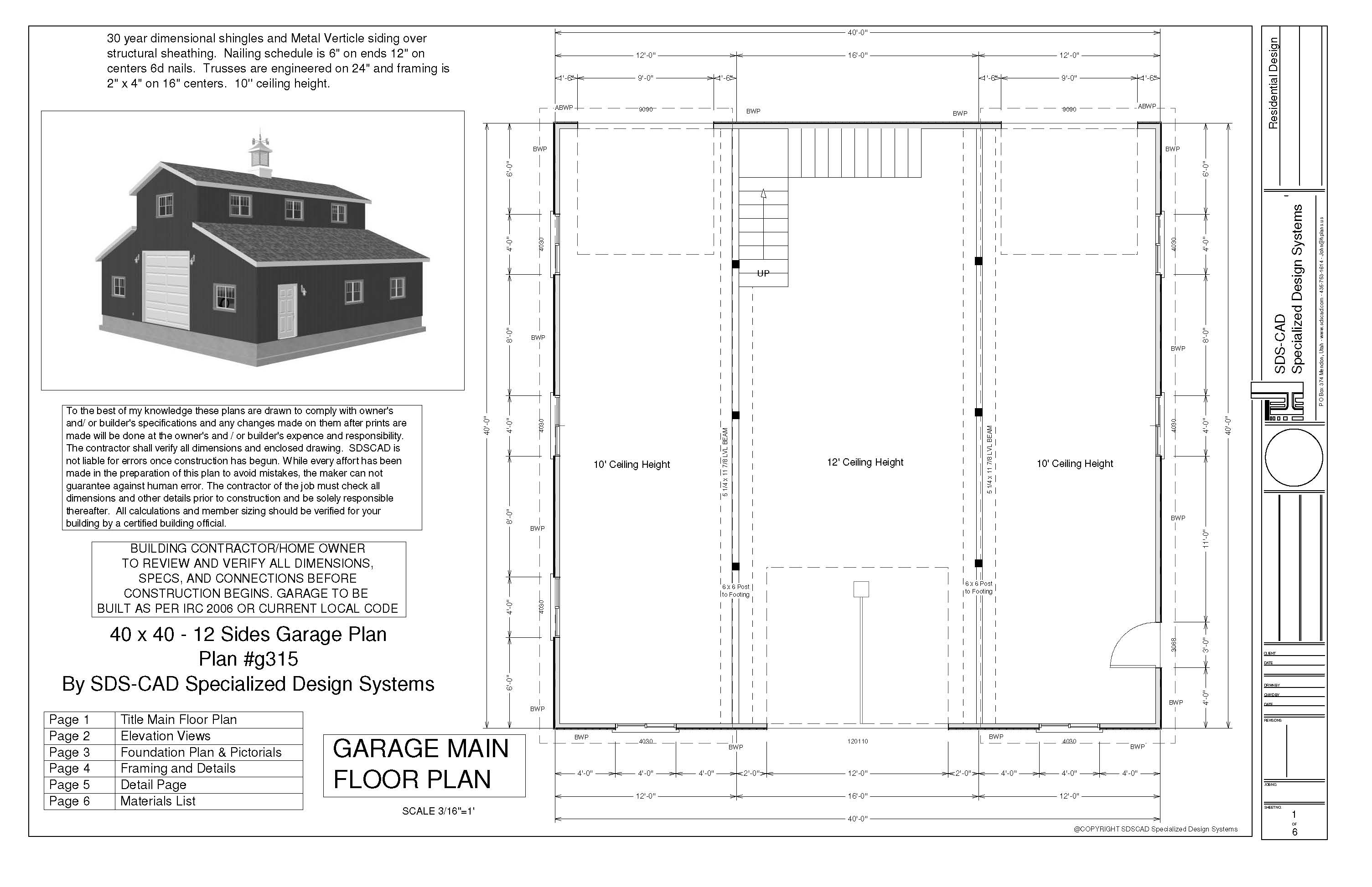 monitor garage plans sds plans g315 40 x 40 x 12 monitor barn plans a monitor barn to store your toys