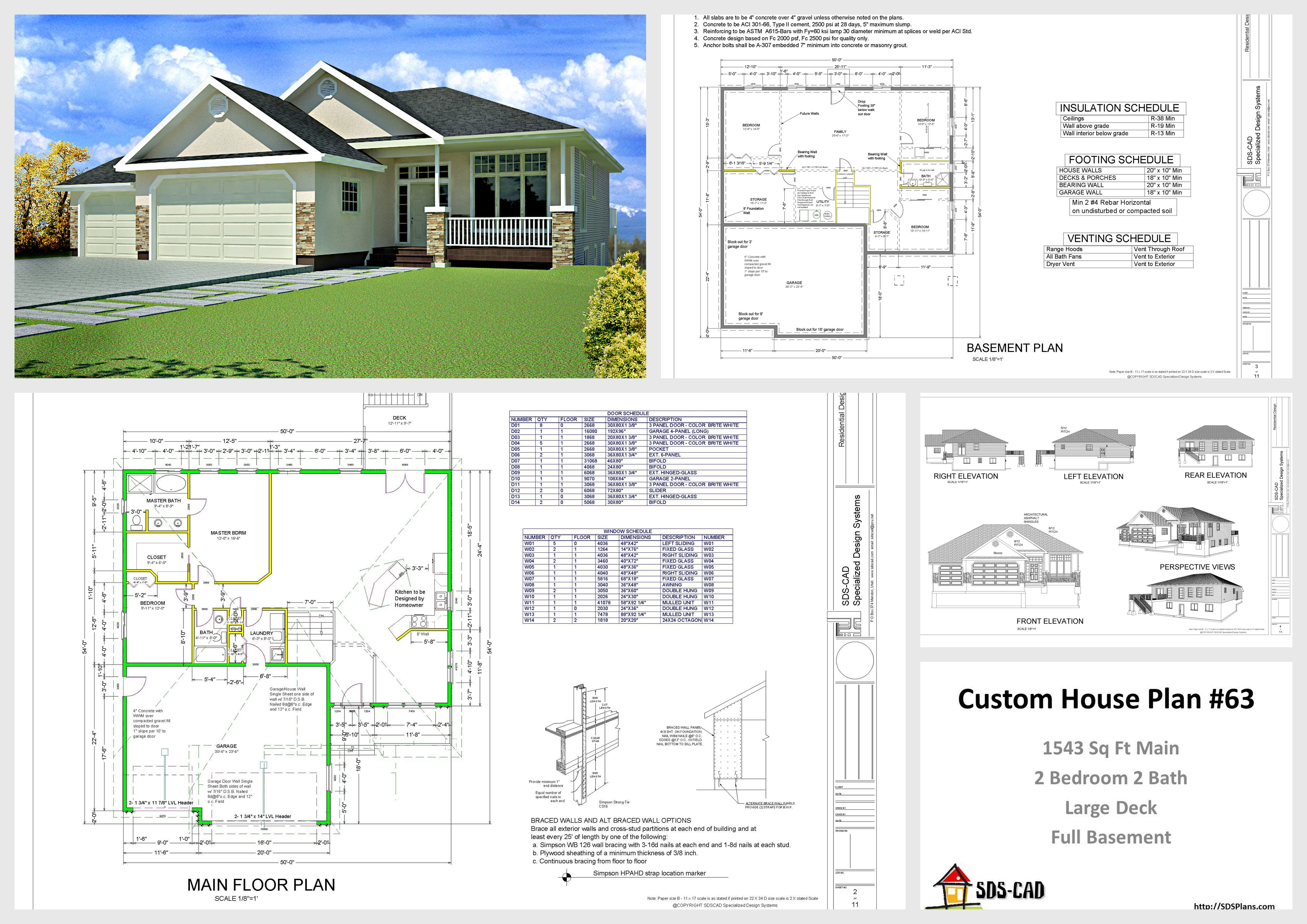 House and cabin plans plan 63 1541 sq ft custom home for Custom home design online
