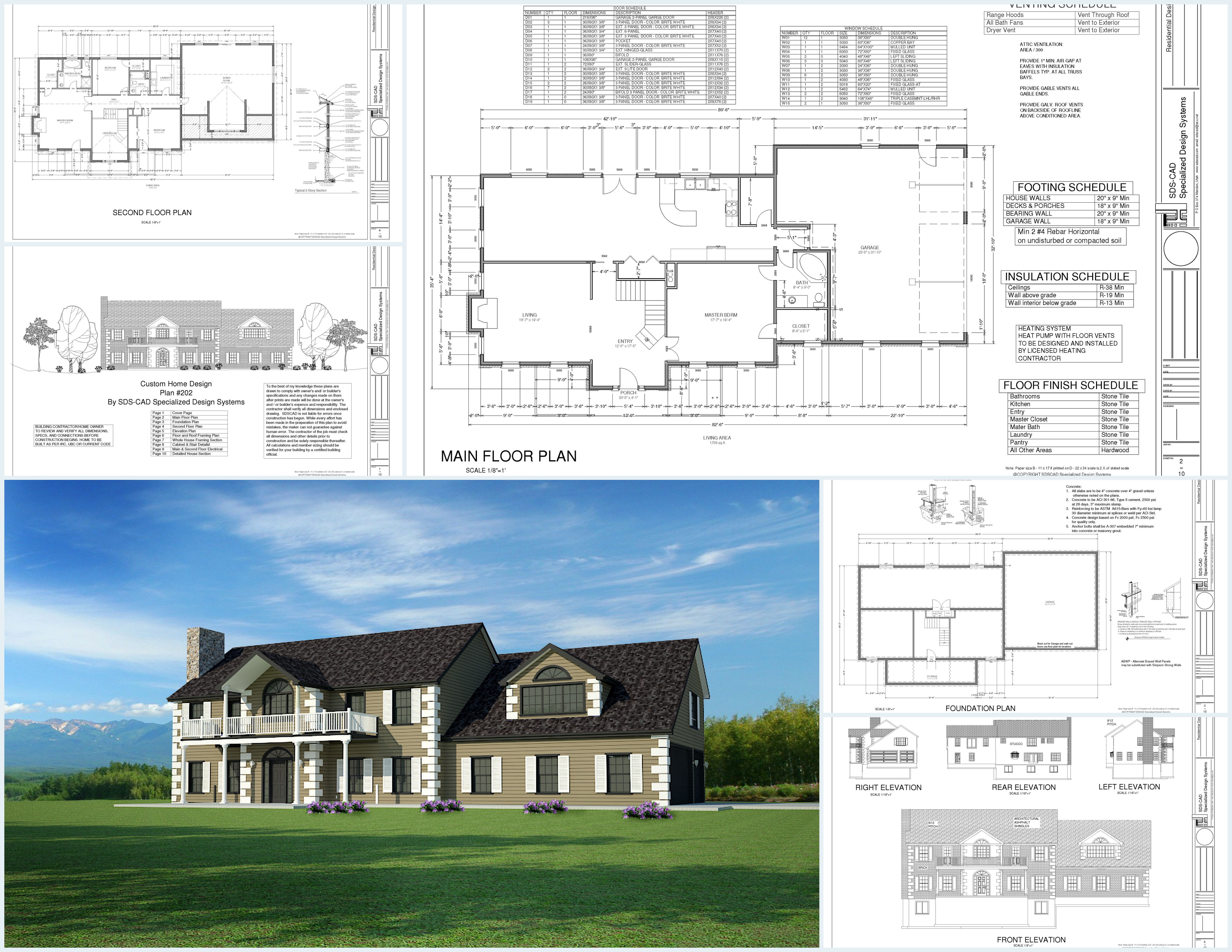 H202 Custom House Plans Country Estate Dwg And Pdf