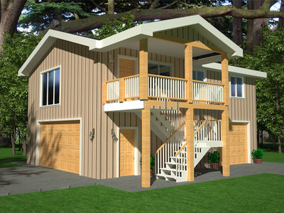 RV Apartment Garage Plans | RV Garage Plans and Blueprints