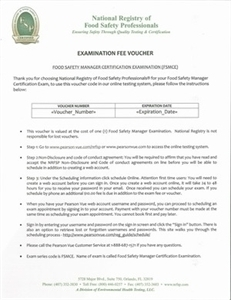 Certified Food Safety HACCP Manager Exam Voucher 00104