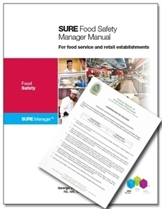 SURE™ Food Safety Manager Manual + International Certified Food Safety Manager (ICFSM) Exam Voucher 00115
