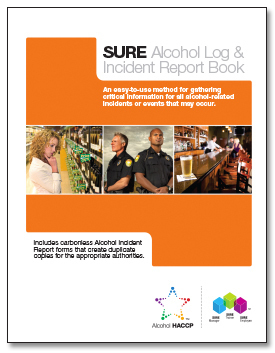 SURE™ Alcohol Log & Incident Report Book 00127