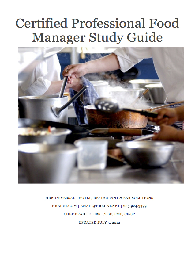 ENGLISH - HRBUniversal Certified Professional Food Manager Study Guide & Practice Exam 00128