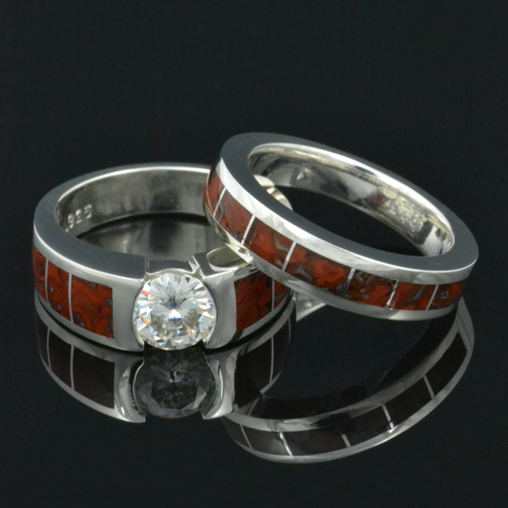 jewelry inlay diamond dinosaur with genuine rough bone ring wedding collections johan engagement rings re by imagined