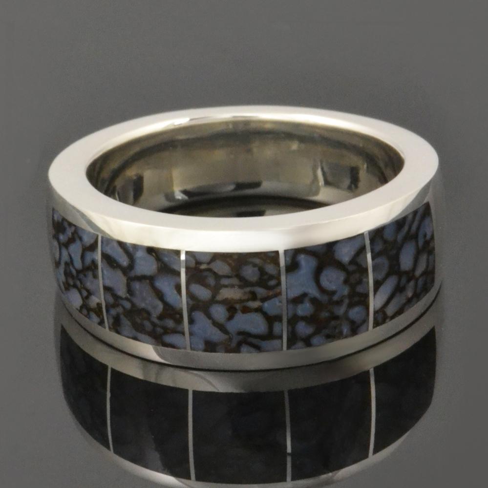 dinosaur bone ring in sterling silver - Dinosaur Bone Wedding Ring