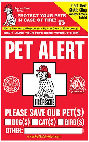 National Pet Fire Safety Day Window Clings (2 window clings) npfsdwc-001