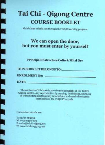 Tai Chi Qigong A5 Guidance Booklet 0020