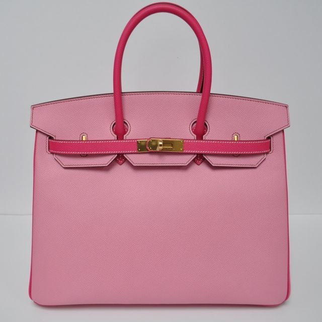 35 cm Bubblegum Pink   Rose Tyrien (Two Tone) Epsom Leather Hermès Birkin  Handbag (2018) 58d6bc9a036a4