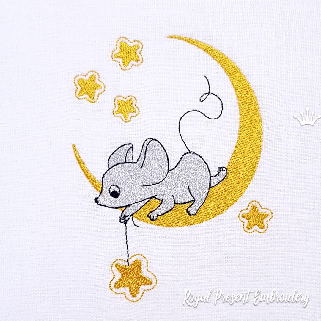 спецов мышь на луне рисунок средние волосы корзиночка