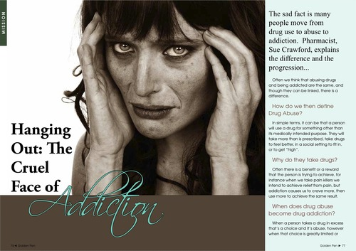 Issue 2 - Sue Crawford - Hanging Out:  The Cruel Face of Addictions 00057