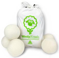Wooly Fresh - 6 Pack Premium 100% Organic Wool Dryer Balls. 681274999964